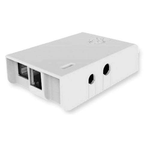 קופסת זיווד לבנה עבור RASPBERRY PI MODEL B MULTICOMP