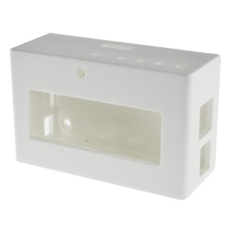 קופסת זיווד לבנה עבור RASPBERRY PI + PIFACE DISPLAY CAMDENBOSS