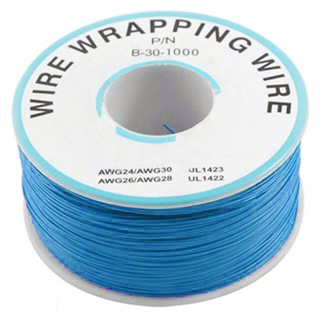 כבל 30AWG - WIREWRAP - גליל 305M - בידוד כחול PRO-POWER
