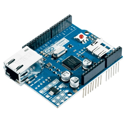 כרטיס הרחבה - ARDUINO ETHERNET SHIELD ARDUINO