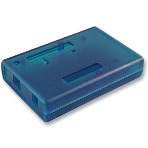 קופסת זיווד כחולה לכרטיס פיתוח - ARDUINO UNO HAMMOND