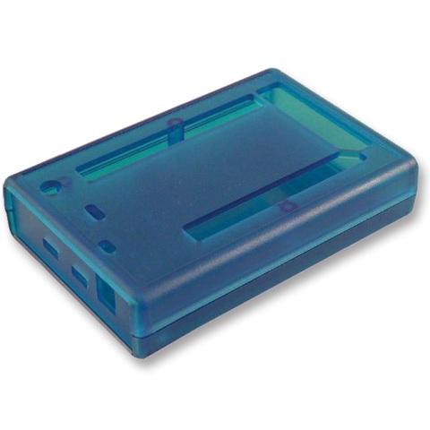 קופסת זיווד כחולה לכרטיס פיתוח - ARDUINO DUE HAMMOND