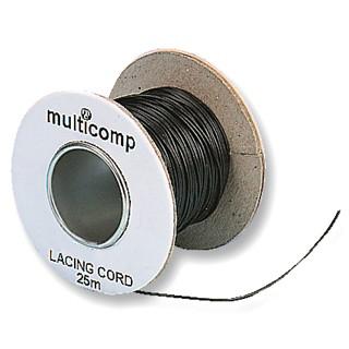 חוט קשירה שחור לכבלים - קוטר 0.9MM - גליל 25 מטר MULTICOMP