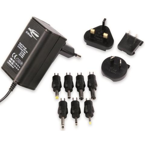 ספק כח ממותג 100-240VAC > 3-12VDC 600MA ANSMANN