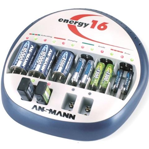 מטען אוניברסלי לסוללות ANSMANN ENERGY 16 - NiCd / NiMH ANSMANN