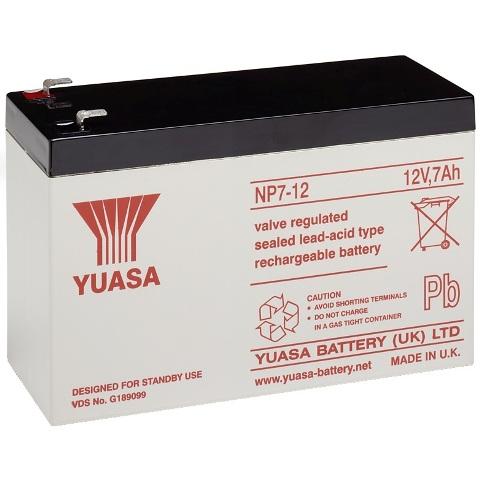 מצבר עופרת נטען - YUASA NP7-12 - 12V 7AH YUASA
