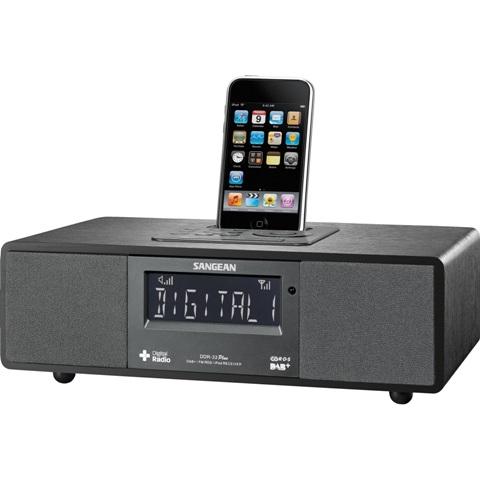 רדיו שולחני דיגיטלי עם תחנת עגינה לאייפון SANGEAN DDR-33 - 4/4S SANGEAN
