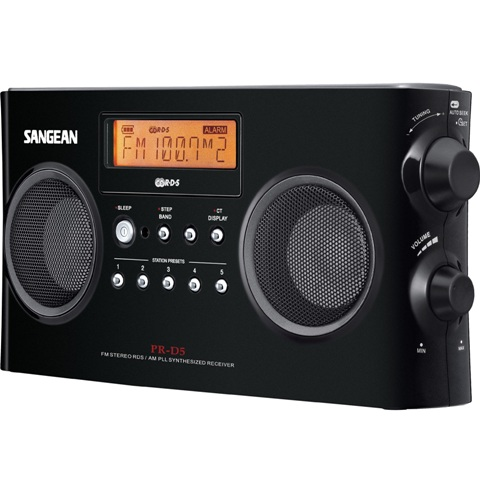 SANGEAN FM/STEREO RDS (RBDS) / AM DIGITAL TUNING PORTABLE RECEIVER - PR-D5