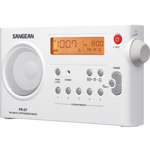 SANGEAN FM / AM DIGITAL TUNING PORTABLE RECEIVER - PR-D7