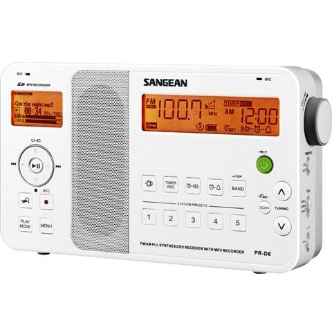רדיו שולחני / נייד דיגיטלי בעיצוב חדשני - SANGEAN PR-D8 SANGEAN