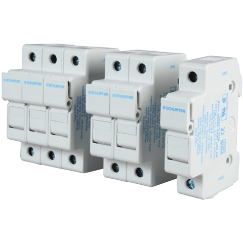 SCHURTER TOUCH-SAFE 35MM DIN-RAIL 10X38MM 1000V FUSE HOLDERS