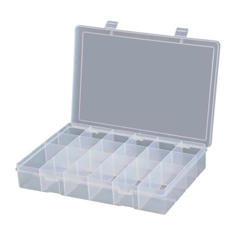 קופסת אחסון לרכיבים 18 תאים 230X125X35MM DURATOOL
