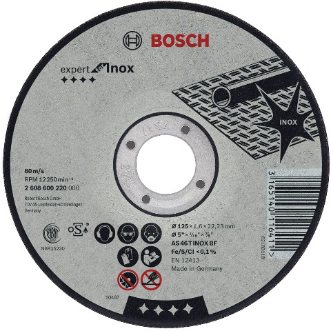 דיסק חיתוך למתכות - 115MM X 1.6MM BOSCH