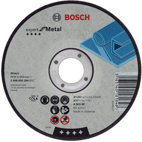 BOSCH 115MM FLAT METAL CUTTING DISCS