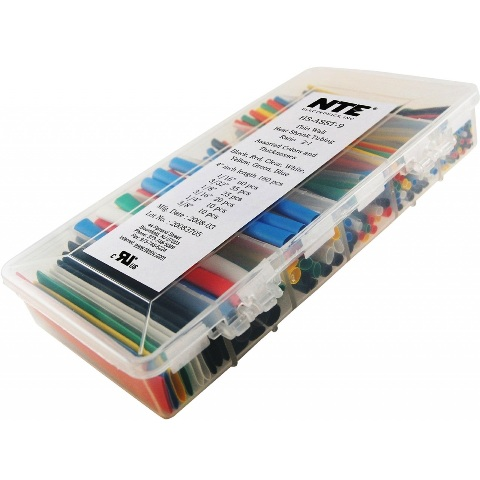 NTE ELECTRONICS HEAT SHRINK TUBING ASSORTMENT KIT - 160PCS