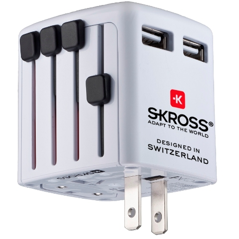 ספק כח USB בינלאומי - WORLD USB CHARGER SKROSS