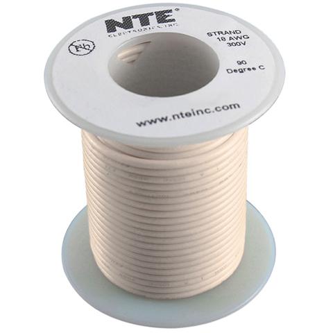 כבל חשמל גמיש לאלקטרוניקה - 22AWG - גליל 30.48 מטר - אפור NTE ELECTRONICS