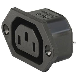 שקע חשמל IEC לפנל 10A MULTICOMP