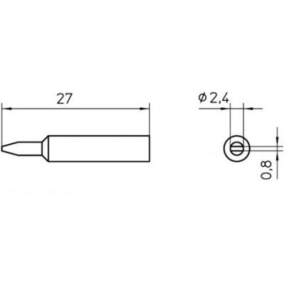 ראש למלחם - WELLER XNT-B - 2.4MM CHISEL WELLER