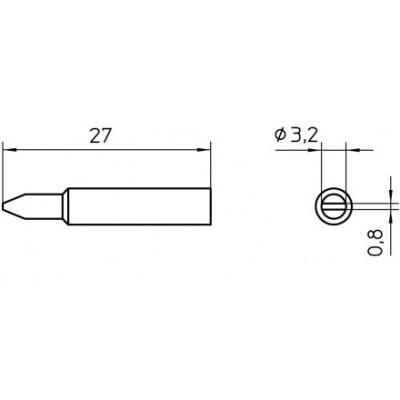 ראש למלחם - WELLER XNT-C - 3.2MM CHISEL WELLER