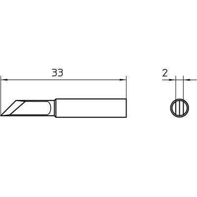 ראש למלחם - WELLER XNT-KN - 2.0MM KNIFE WELLER