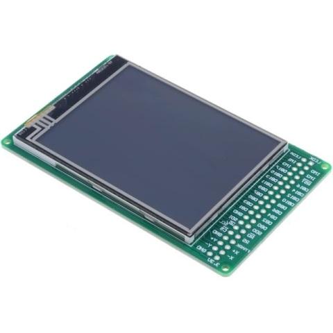 תצוגת LCD TFT גרפית עם תאורה וחיישן מגע - 320X240 MIKROELEKTRONIKA