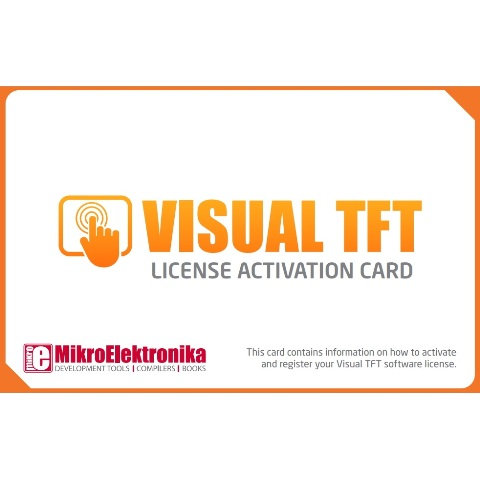 MIKROELEKTRONIKA VISUAL TFT LICENSE ACTIVATION CARD