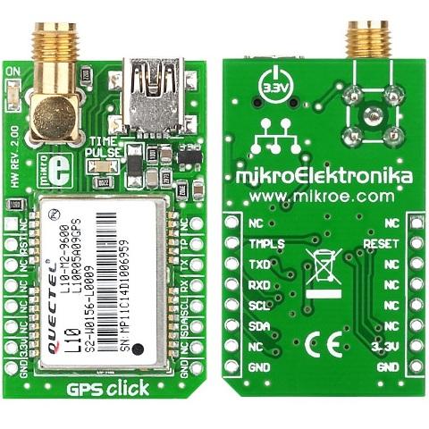 כרטיס הרחבה - GPS CLICK MIKROELEKTRONIKA