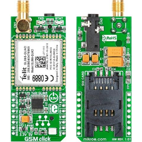 MIKROELEKTRONIKA GSM CLICK ADD-ON-BOARD