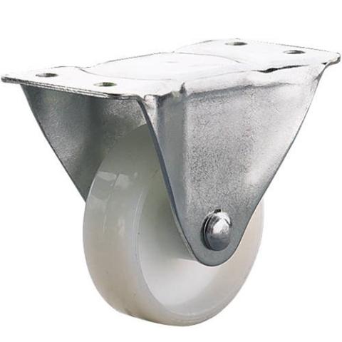 גלגל פלסטיק לבן קבוע  - 64MM CLARKE