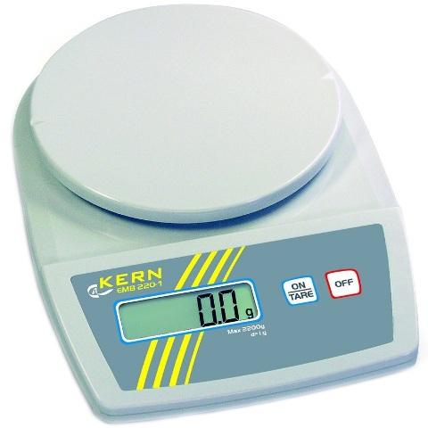 משקל שולחני דיגיטלי - עד 5200 גרם - רזולוציה 5 גרם KERN