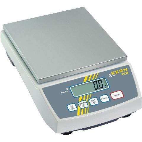 משקל שולחני דיגיטלי - עד 6000 גרם - רזולוציה 1 גרם KERN