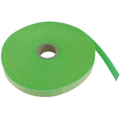 סרט קשירה לכבלים (סקוטש) - רוחב 15MM - ירוק PRO-POWER