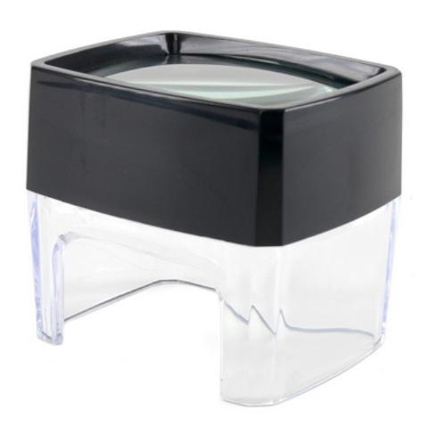 זכוכית מגדלת שולחנית חצי שקופה - הגדלה X5 DURATOOL