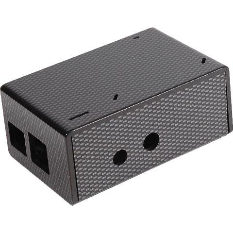 קופסת זיווד שחורה עבור RASPBERRY PI + WOLFSON AUDIO CARD CAMDENBOSS