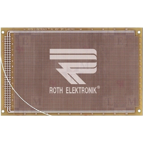 לוח נקודות הלחמה דו צדדי - 100X160MM FR4 - SMD ROTH ELEKTRONIK