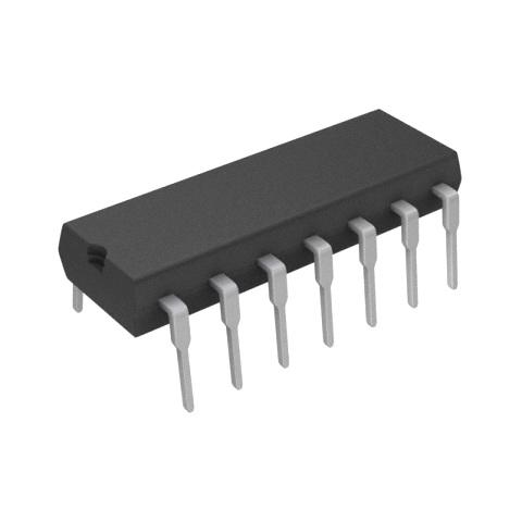 מגבר שרת - 4 ערוצים - DIP - 0.6V/µs - 2.5V-15V - 1MHZ TEXAS INSTRUMENTS