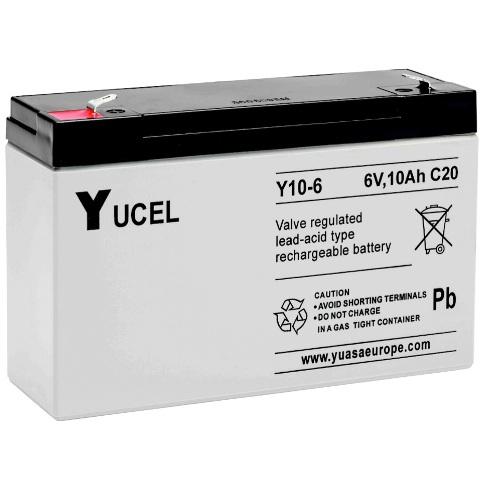 מצבר עופרת נטען - YUCEL Y10-6 - 6V 10AH YUASA