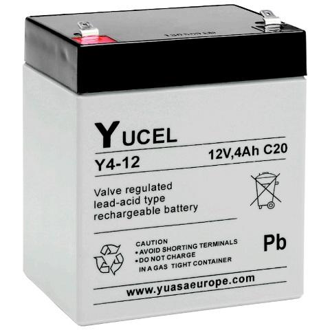מצבר עופרת נטען - YUCEL Y24-12 - 12V 4AH YUASA