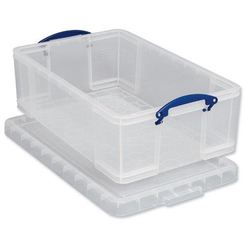 קופסת אחסון שקופה עם מכסה ננעל - 480X390X120MM REALLY USEFUL PRODUCTS