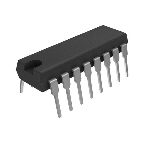מפענח לוגי - 4 יציאות - DIP - 4.5V-5.5V - 2-TO-4 / DMUX TEXAS INSTRUMENTS