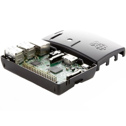RASPBERRY PI - MODEL B+ - BLACK CASED RASPBERRY PI