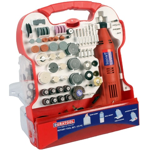 DURATOOL 220V ROTARY TOOL + 172PC ACCESSORIES