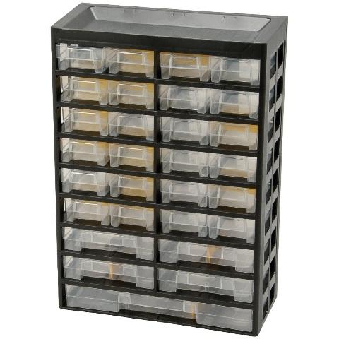 ארונית 29 מגירות לאחסון רכיבים - 435X303X136MM ALLIT