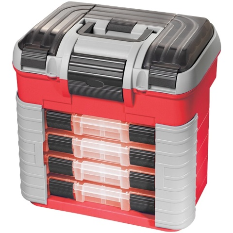 PLASTICA PANARO STORAGE CASE WITH REMOVABLE TRAYS - SUPRBOX 501