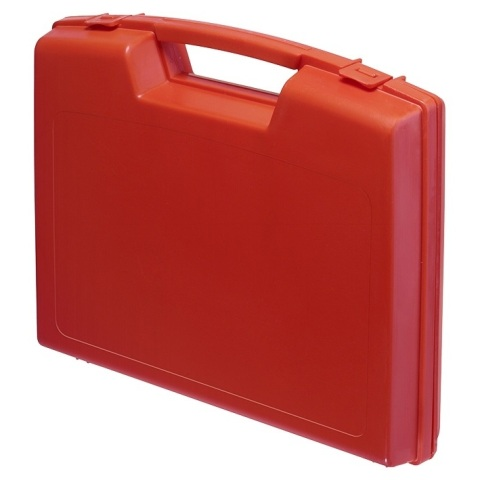 מזוודת אחסון 240X205X48MM - עם ריפוד פנימי - אדומה PLASTICA PANARO