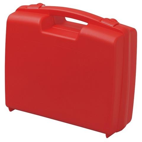 מזוודת אחסון 395X300X103MM - עם ריפוד פנימי - אדומה PLASTICA PANARO