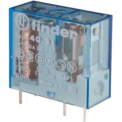 FINDER 8A/10A/16A PCB/PLUG-IN RELAYS - 40 SERIES