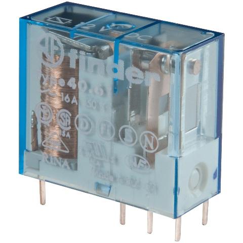 ממסר אלקטרוני למעגל מודפס - 240VAC 1C/O 16A FINDER