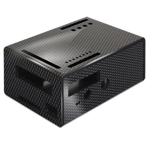 קופסת זיווד שחורה עבור RASPBERRY PI + PIFACE DIGITAL 2 CAMDENBOSS